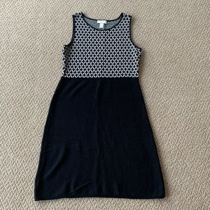LOFT Outlet Black Knit Tank Dress